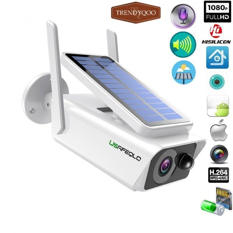 surveillance Solar panel Rechargeable 1080P WiFi IP Camera