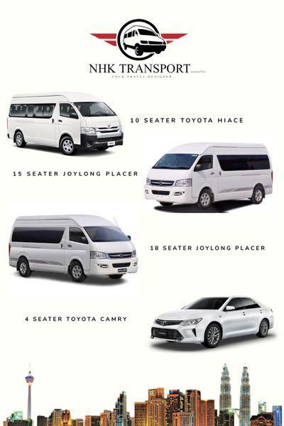 van with driver / airport van / klia van / hotel van / city tour van / persiaran van