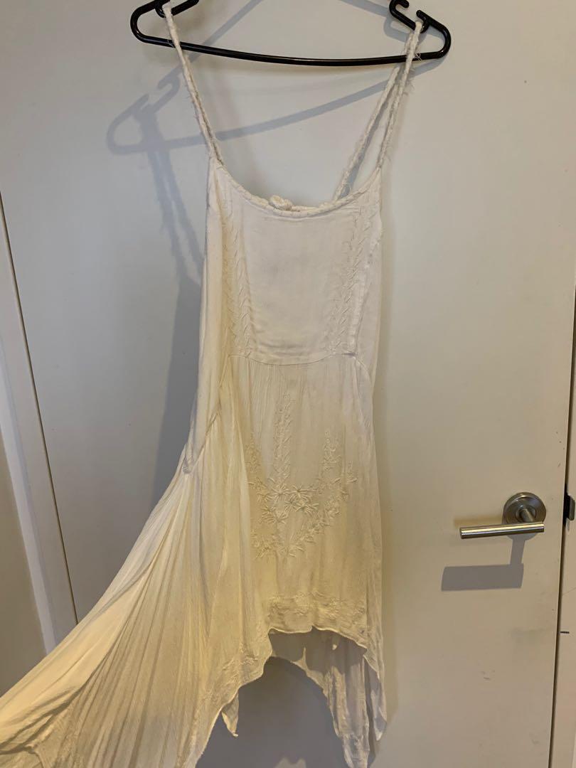 White boho beach dress