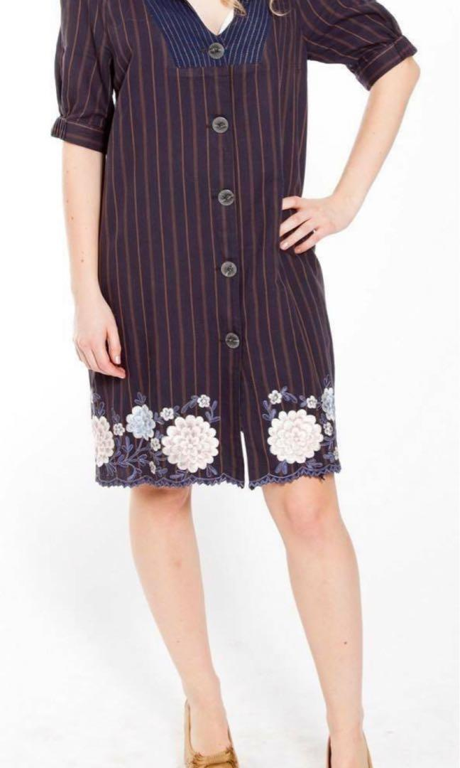 Woman embroidered SHIRTDRESS. FREE DELIVERY.
