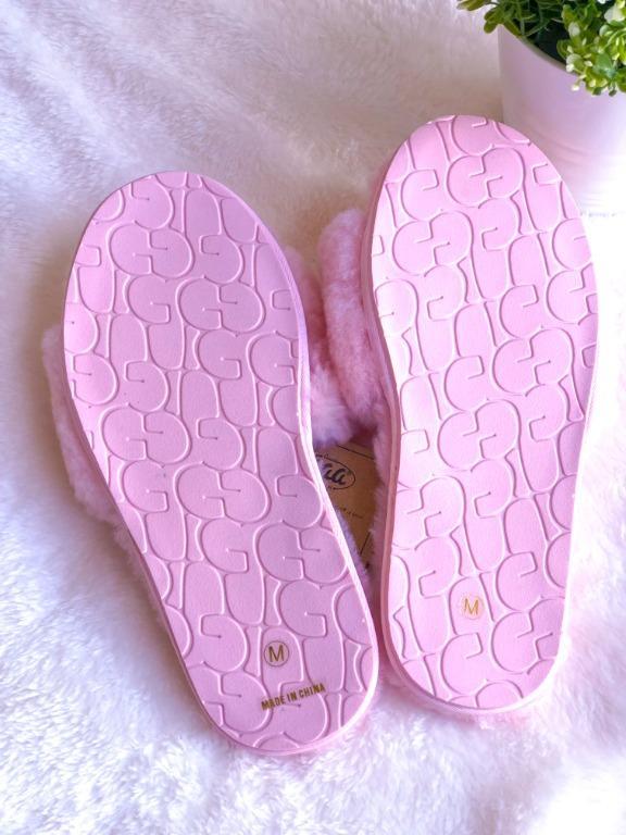 Women's Premium Australian Sheepskin Ugg Open Toe Slipper - Pink