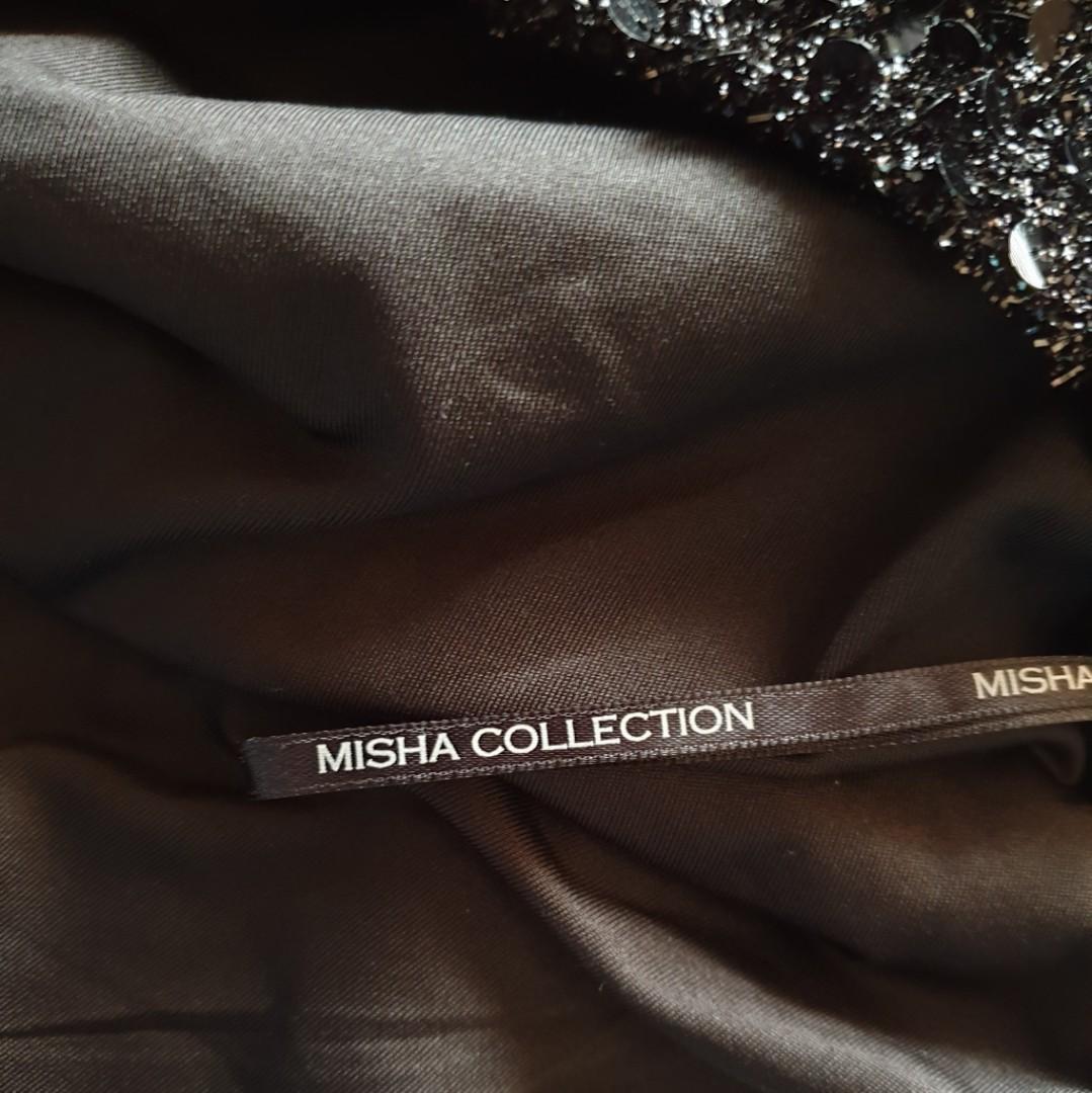 Women's size L 'MISHA COLLECTION' Stunning black halterneck cocktail dress - AS NEW