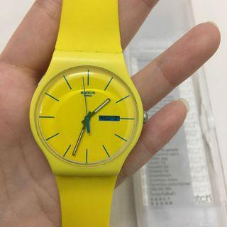 Swatch Yellow Watch (with Night Light)
