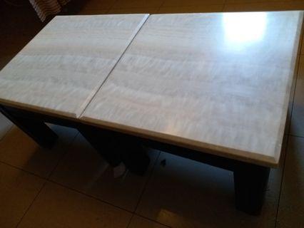 實木大理石桌 真材實料 很高級 方桌  一批