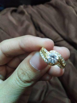 Cincin Emas asli 916 & Permata