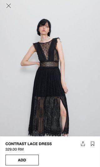 Zara lace dress black