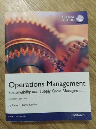 Operations Management book by Heizer & Render (11th edition)