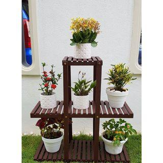 Multi Level Garden Wooden F lower Rack 08