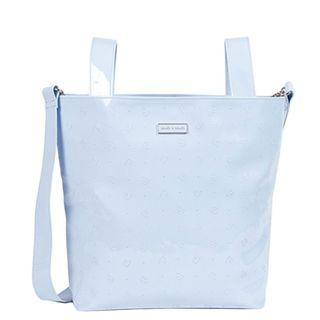 Branded Baby Bag Pasito a Pasito Patent Leather Logo Small Changing Bag (Blue)#Letgo50
