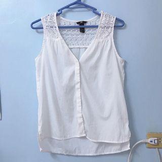 H&M 蕾絲雪紡鈕扣襯衫背心 EUR34