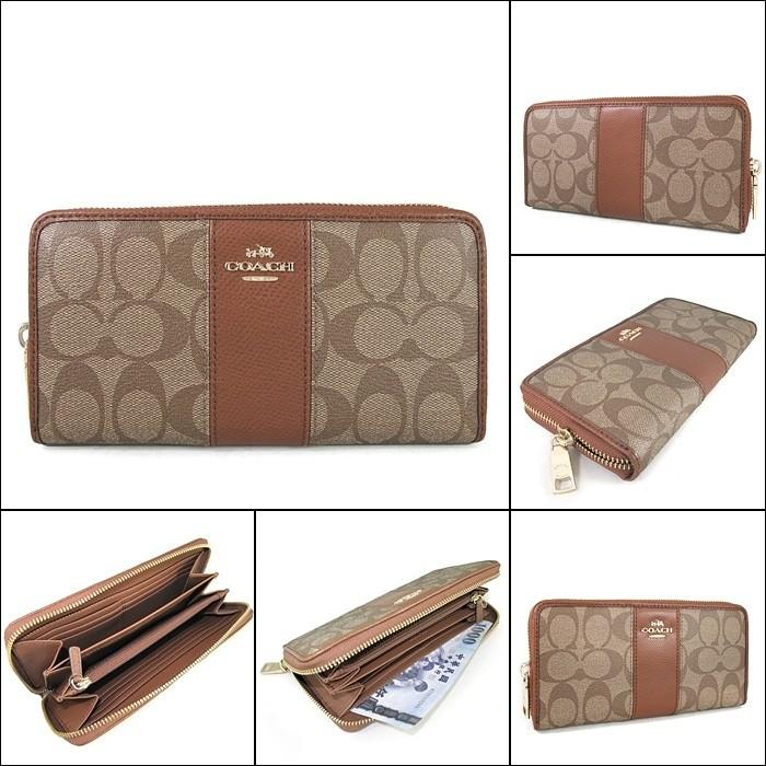 100%ORIGINAL READY STOCK SIGNATURE CANVAS WITH LEATHER ACCORDION ZIP WALLET (COACH F52859)