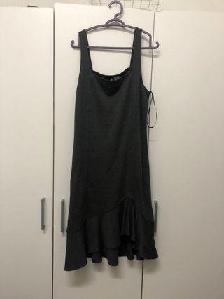 Dark grey midi dress H&M