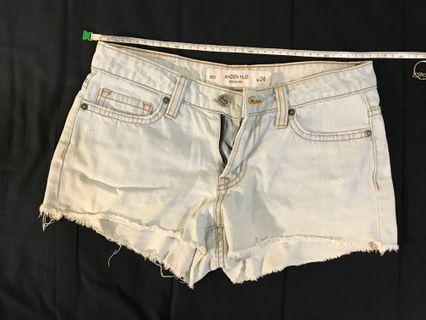 二手 短熱褲 淺藍短褲 Anden hud