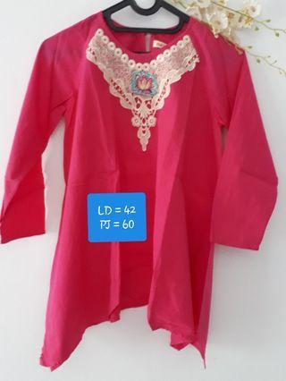 Baju muslim pink #1010flazz