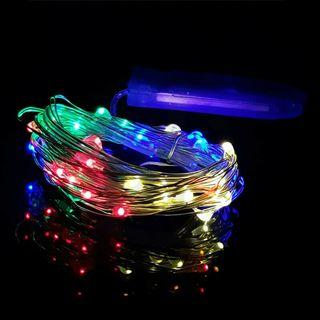 1M 10LEDs Multicolor RGB LED String Fairy Lights