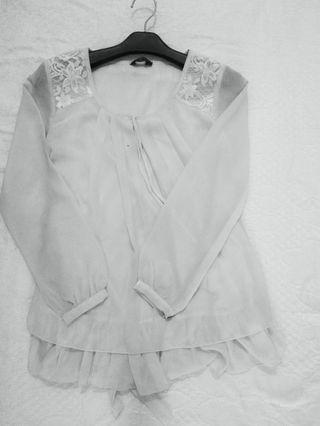 White Blouse by Ge'Orlin (preloved)