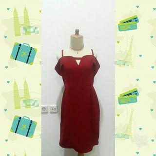 #reprice #1010flazz #joinoktober Maroon Sabrina Dress by Storee