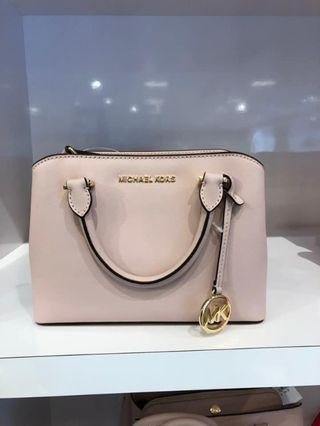 MICHAEL KORS SAVANNAH SMALL SATCHEL CROSSBODY BAG IN BLOSSOM