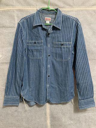Bronson藍染工作襯衫