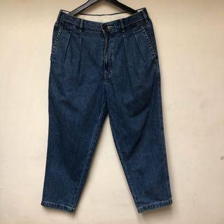 UniqloU 牛仔寬褲 未下水 極新 30腰 寬褲 丹寧 長褲