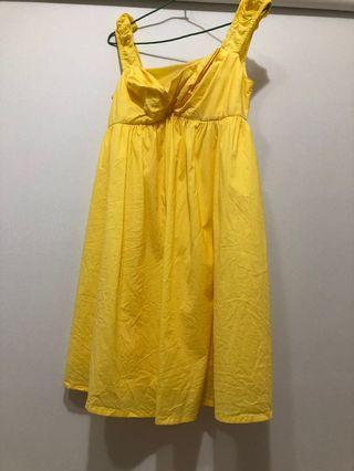 Iroo黃色貝兒洋裝