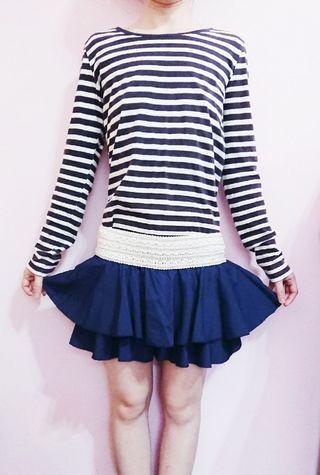 褲裙 深藍色  是褲裙 是褲裙 是褲裙喔!!