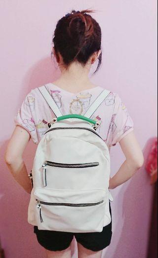 背包白色 可愛氣質後背包  白色背包