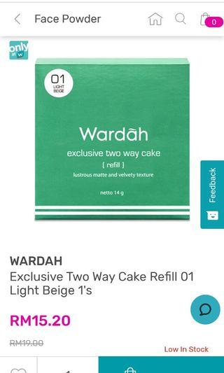 Wardah Two Way Cake Face Powder #Letgo50 #1010