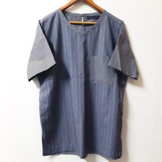 Regalo古著∣Sense of place 口袋條紋灰色T恤 T-shirt 古著