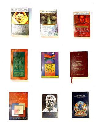 Assorted non-fiction books - Mind/ Buddhism/ Stoicism - [OCT19]