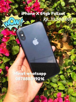 iPhone X 64gb Fullset 1st Hand