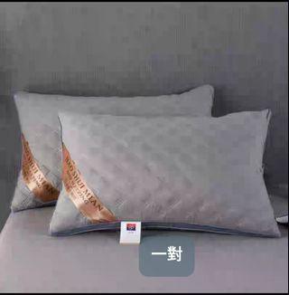 一對一個裝優質纖維綿枕頭芯