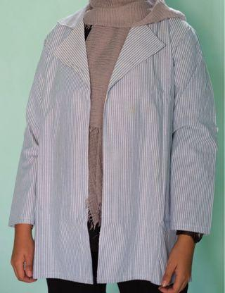 Stripe outer in blue