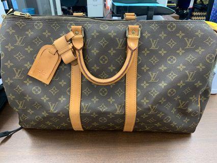 LV Keepall cloth travel bag Louis Vuitton