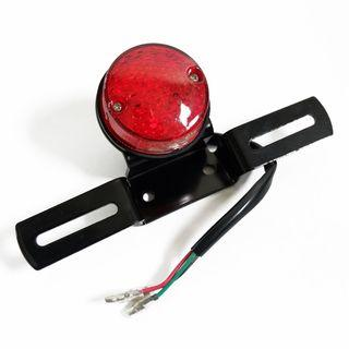 Cafe Racer Motorcycle Brake Taillight with Number Plate Bracket