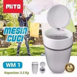 MESIN CUCI PORTABLE MITO 3.5kg Garansi
