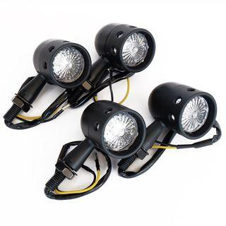 Cafe Racer Motorcycle Signal Bullet Light 4pcs/2sets
