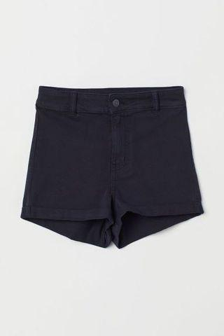 H&M  High waisted twill shorts