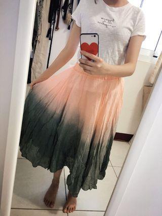 渲染棉麻長裙