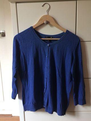 H&M Blue Cardigan #1010