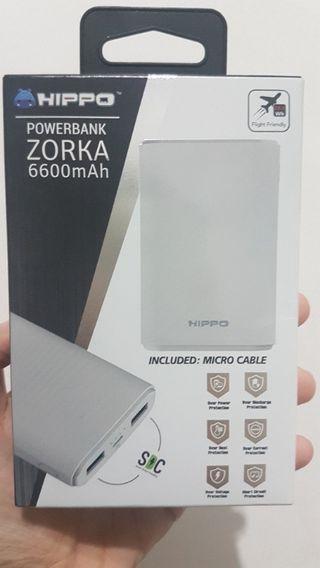 HIPPO Powerbank Zorka 6600mAh Hippo warna Putih NEW