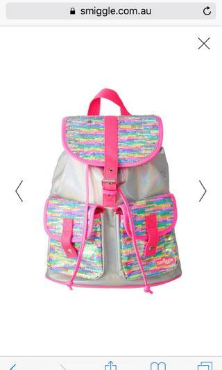 Smiggle Ruby Reversible Sequin Backpack