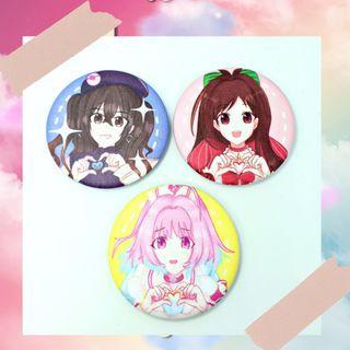 IMAS Cinderella Girl Button Badge fanmade