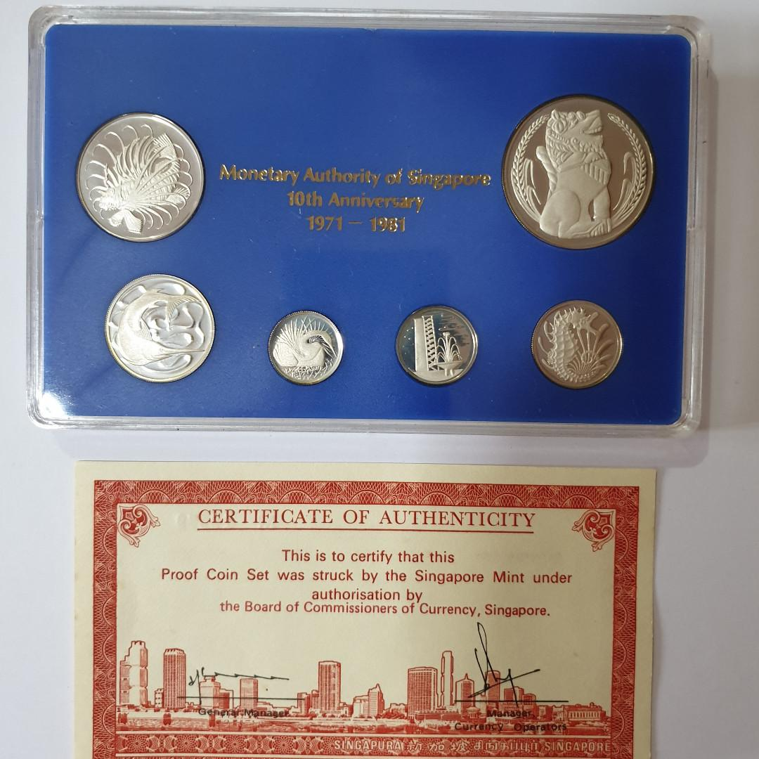 1981 Commemorative Sterling Silver Proof Set