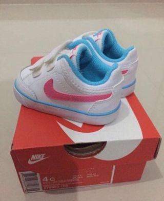 White Nike Baby Shoes