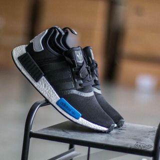 [二手美品]S79162 ADIDAS NMD R1 黑藍色 東京藍