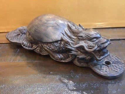老件 陰沉金絲楠木 龍龜