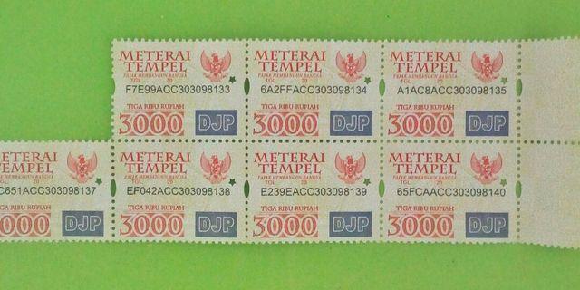 #1010flazz Materai 3000 edisi tahun 2009-2015