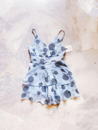 Blue Polka Romper / Jumpsuit (Ready stocks sold out, pre order available)