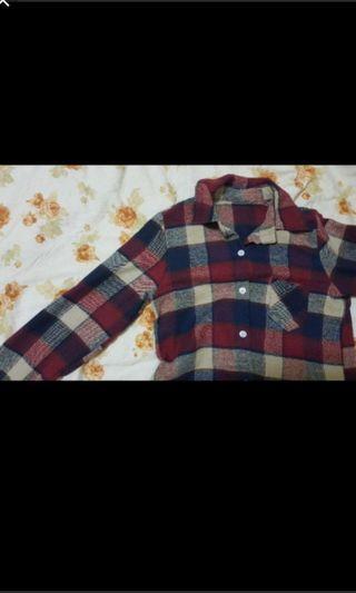 復古格子襯衫/薄外套